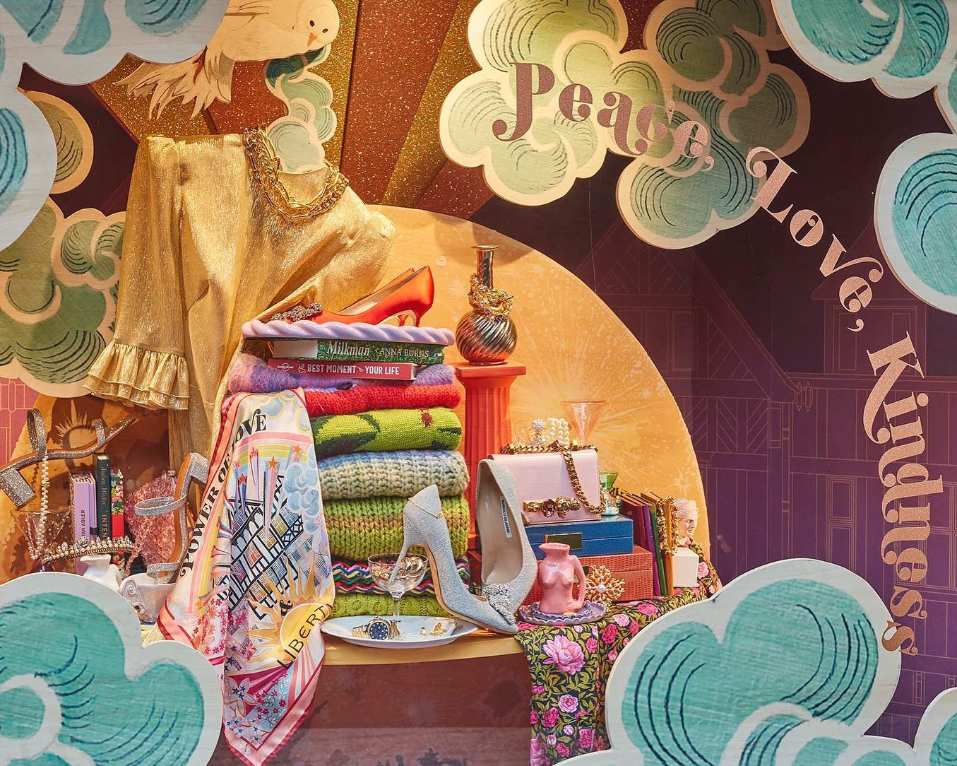 Liberty London Christmas window for 2020 by StudioXag