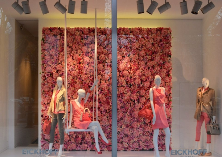 EICKHOFF spring shop windows Düsseldorf, Germany