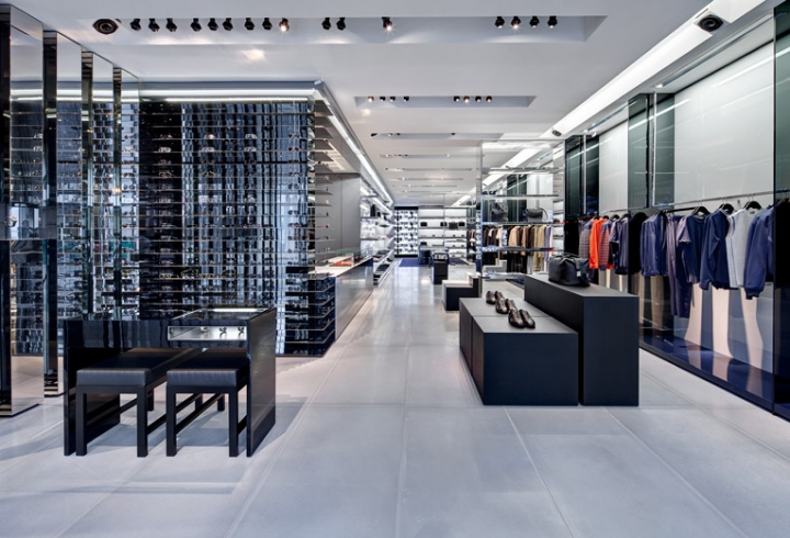 Dior Homme flagship store design in Miami