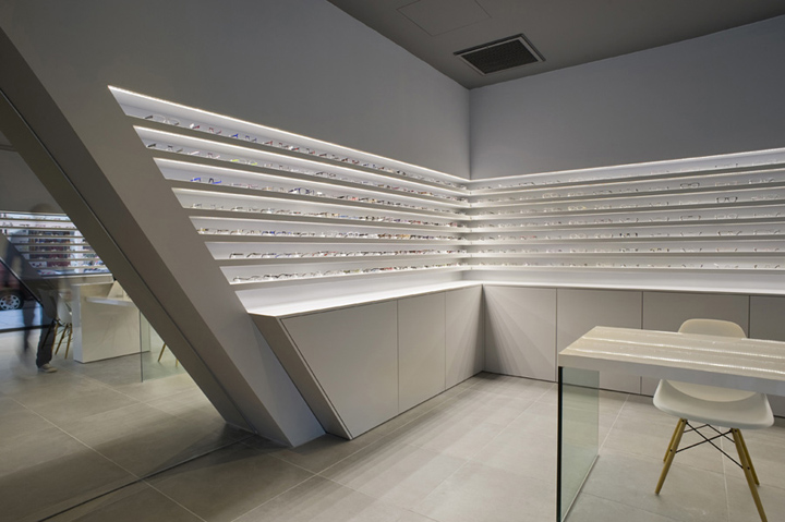 Optique Ampere optical shop by Cyrille Druart, Grenoble – France