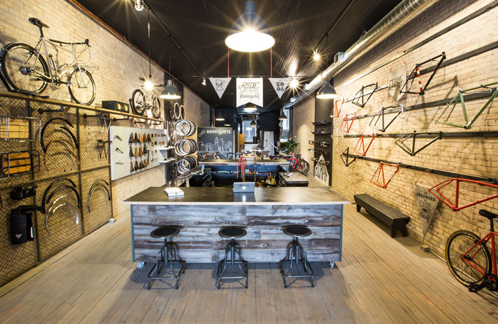 Handsome Cycle store by KNOCK, Minneapolis