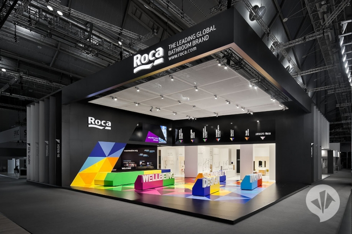 Roca stand design at ISH Frankfurt