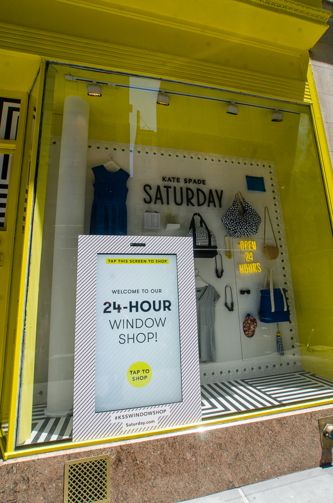 Kate Spade 24hr shoppable interactive store Windows