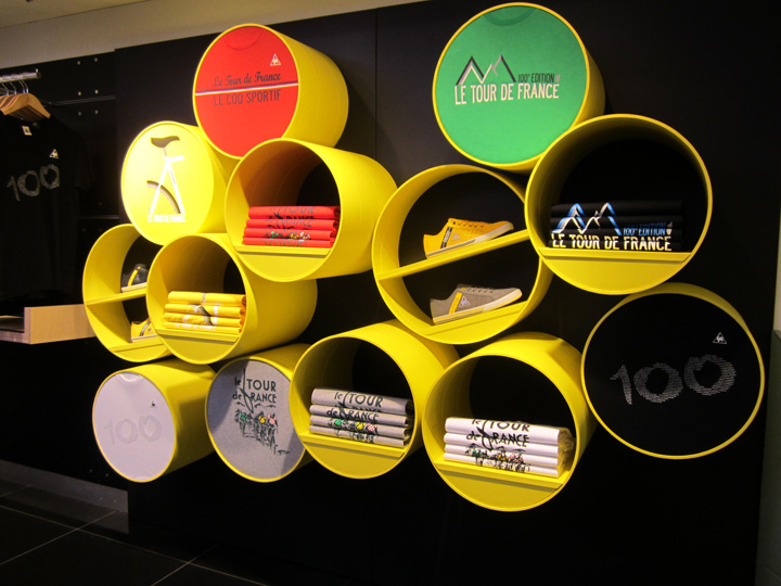 Le Coq Sportif Tour de France installation by Checkland Kindleysides at Harrods, London