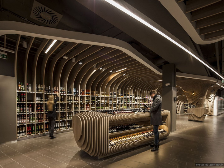 SPAR Flagshipstore by  LAB5 Architects in Budapest