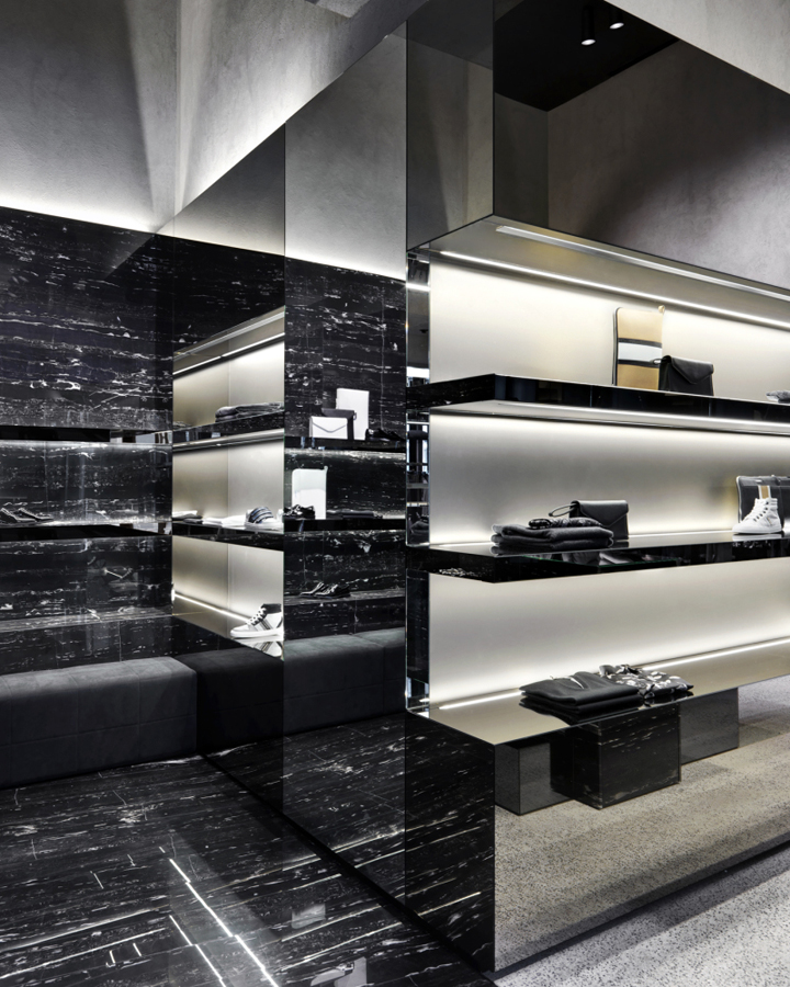 Les Hommes flagship store by Piuarch, Milan