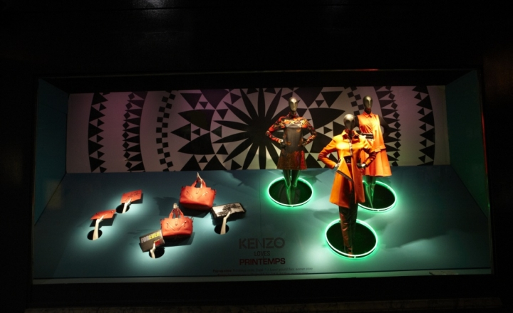 Kenzo windows display at Printemps