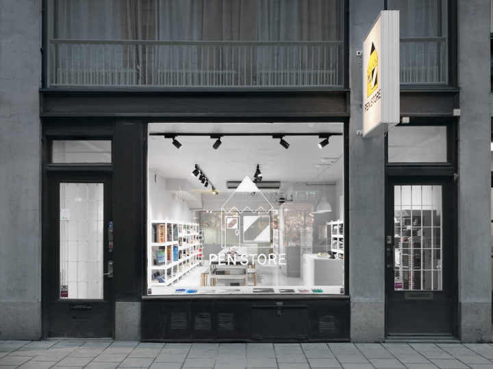 The Pen Store designed by Form Us With Love