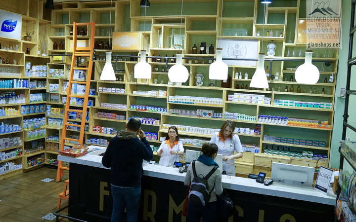 "Help Net concept store "" Farmacia"" in  Bucharest by Omid Ghannadi"