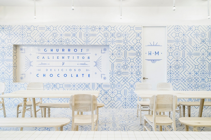 El Moro Churrería in Mexico City by Cadena Asociados