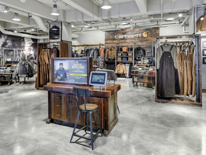 Carhartt hometown flagship store by RGLA Solutions Inc