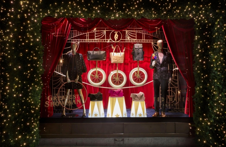 Ted Baker - The Greatest Showman christmas window display 2017