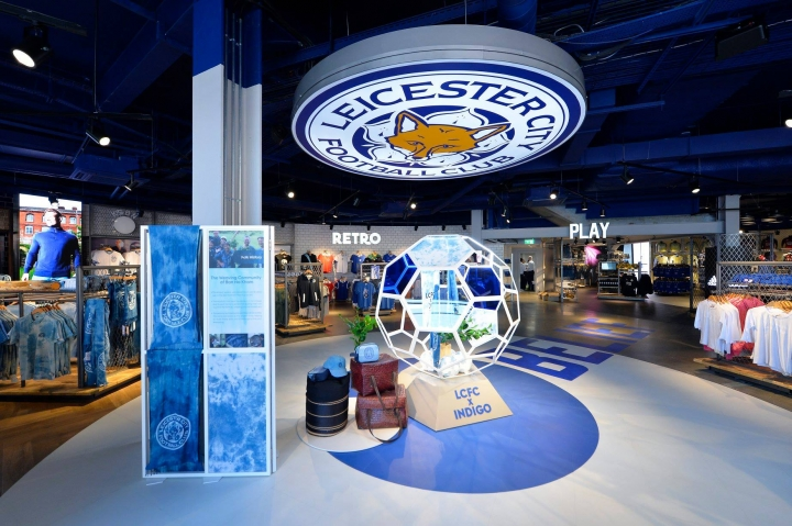 Leicester City footbal club shop interior by The Design Solution