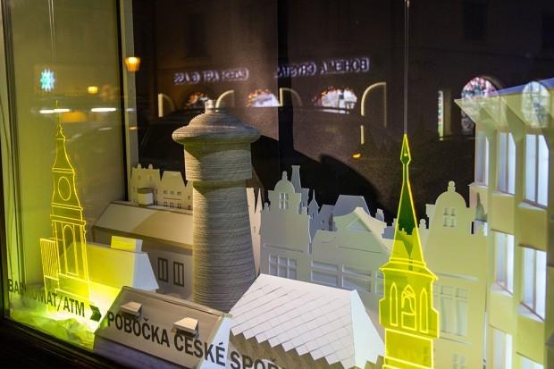 Česká Spořitelna christmas Window Display by agency Wellen