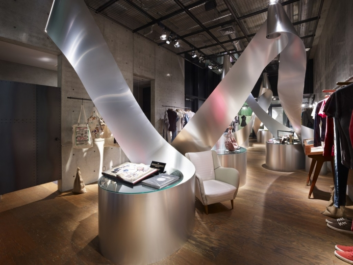 """Diesel Denim Gallery store installation """" Rolls """""""