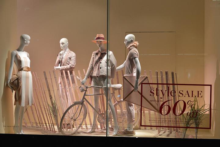 Holt Renfrew shop windows- summer sale