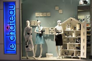 Le Chateau shop windows concept-  Eaton Center Toronto