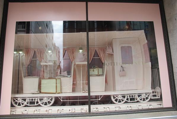 monochromatic windows display -  Bottega Veneta