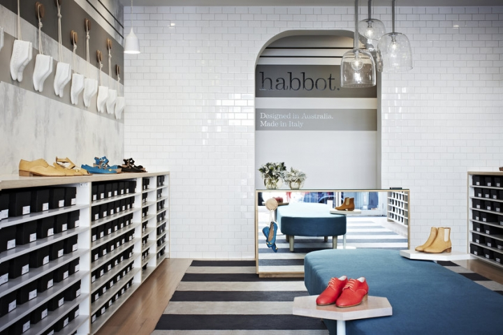 Habbot shoe store by Mim Design