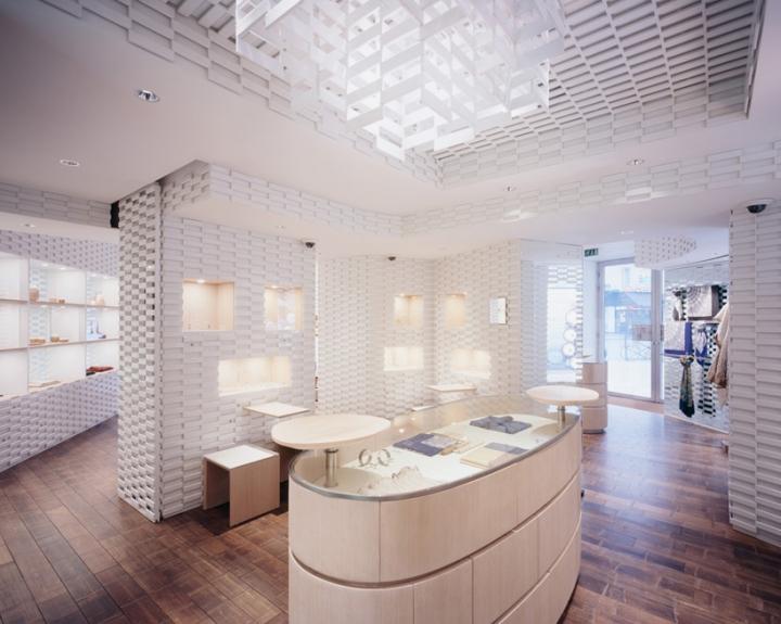shang xia paris store with ceramic panels