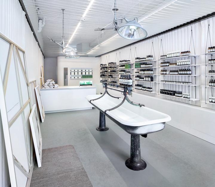 Aesop store Portland, interior design by john randolph