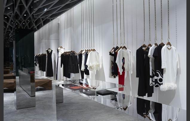 Victoria Beckham's flagship store Dover Street by Farshid Moussavi