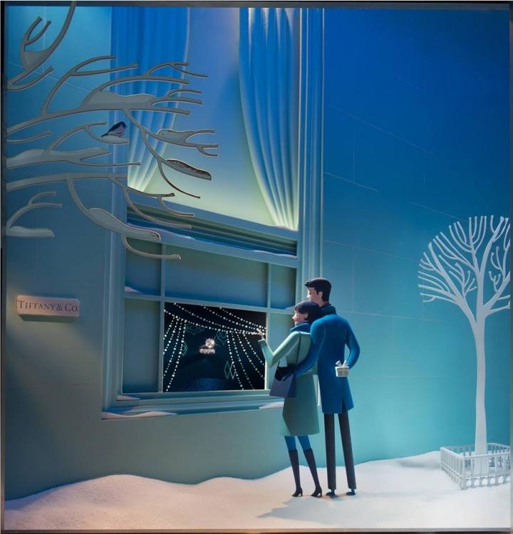 Tiffany & Co christmas windows display 2014