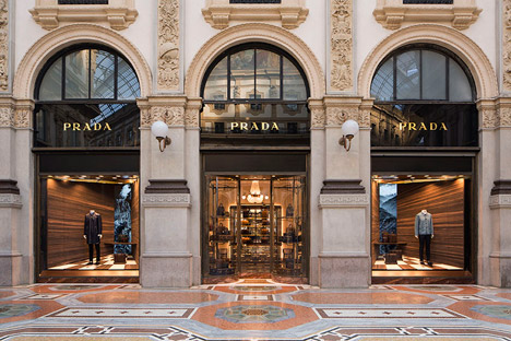 Prada's shop window installation by Martino Gamper