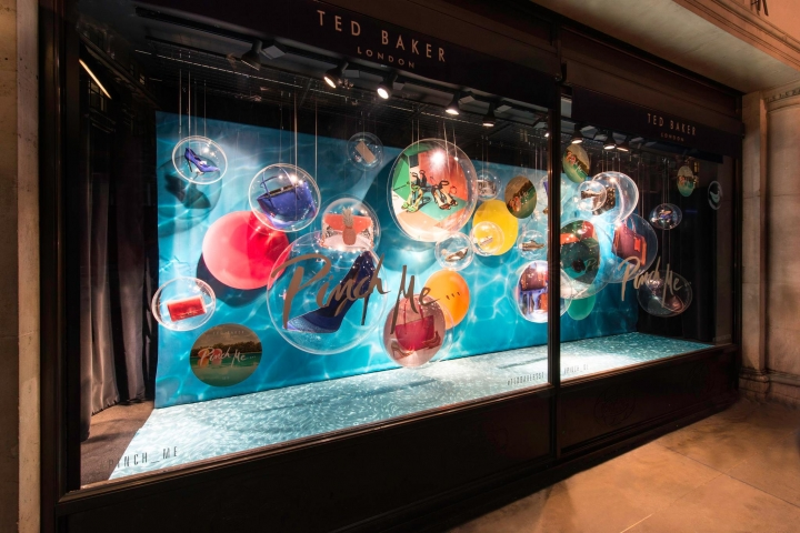 TedBaker‬ windows display, ‎Regent‬ Street by Millington Associates