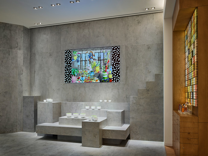 Hermès Perfume Library on Liberty Street, N.Y by RDAI and RF Studio architects