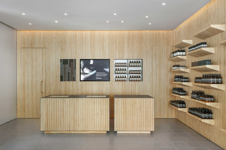 Aesop store design Manhattan NY by Tacklebox Architecture