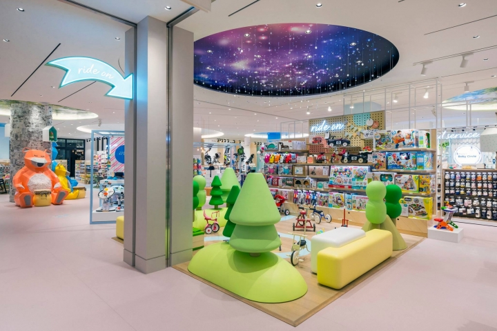 Marie's Baby Circle stores in South Korea by Dalziel & Pow