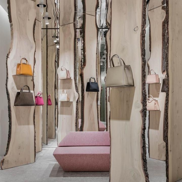 Valextra shop installation by Kengo Kuma