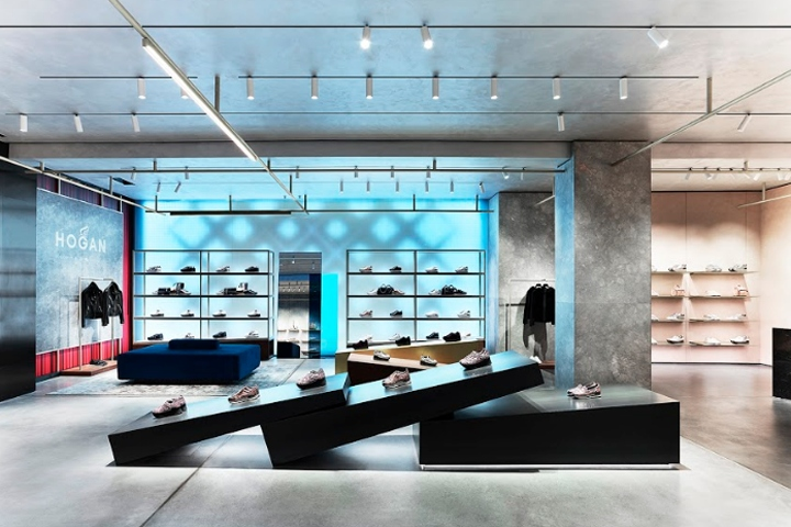 Hogan boutique by Checkland Kindleysides, Milan – Italy